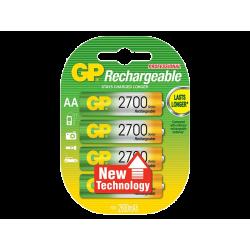 סוללה GP AA Rechargeable 2700mAh 4pck