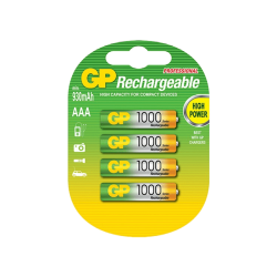 סוללה GP AAA Rechargeable 1000mAh 4pck