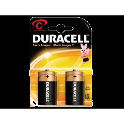 זוג סוללות DURACELL C