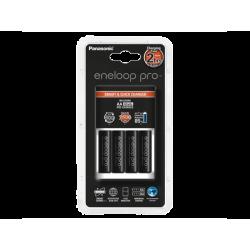 מטען סוללות eneloop pro כולל 4 סוללות AA Panasonic