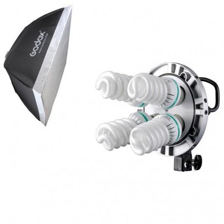 תאורה קבועה ל-4 נורות Godox TL-4K with 60 X 60 cm softbox